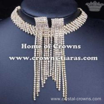 Wholesale Rhinestone Necklace Earrings Jewelry Set