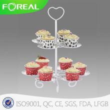 Сердце формы 2 яруса 10шт металла Cupcake Стенд