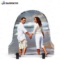 Manufacturer supply High Quanlity White Sublimation rock photo funny frames slate/stone photo