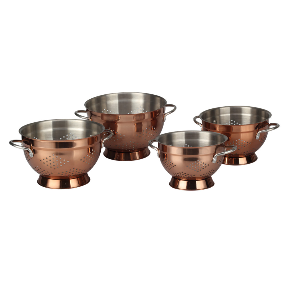 Copper Colander With Little Holes