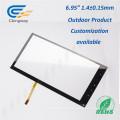 """6.95 """"4 Wire - Cristal de pantalla táctil resistivo analógico"""