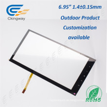 "6,95 ""Pet Film Glas 4 Wire Resistive Interactive Touch Glas"