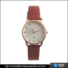 Relógio de couro genuíno para mulheres da moda preço do relógio de quartzo da China