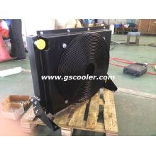 Мобильный масляный радиатор с вентилятором и кожухом
