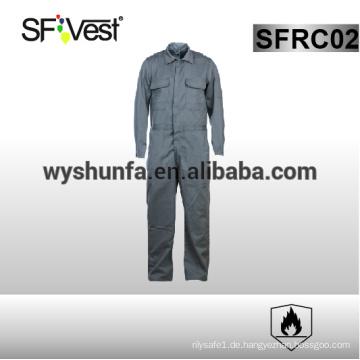 100% Baumwolle Overalls lange Ärmel Sicherheit coverall 100% Baumwolle Flammschutzmittel Kleidung mit vielen Taschen