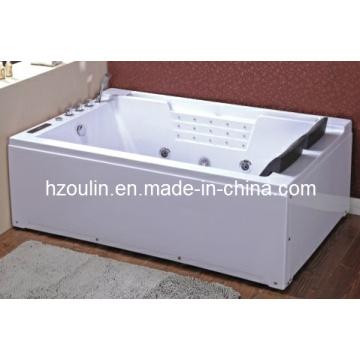 Baignoire de massage hydromassante blanche acrylique de tourbillon (OL-672)