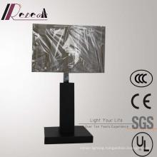 Hotel Decorative Matt Black Bedside Table Lamp with 2PCS USB