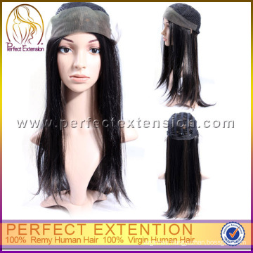 For Women 100% Indian Human Hair All Hand Tied No Glue Celebrity Full Lace Wig