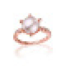 Natural Perfectly Round Freshwater Pearls Crown Shaped Rings S925 Sterling Silver for Women Engagement Fine Jewelry