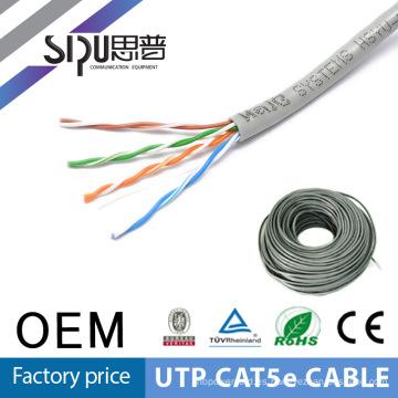 SIPUO caliente vender utp pares de cables 4 de lan de cat5e 305m a precio de fábrica de rodillo