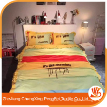 Supply beautiful printed with letters sheet set for bed