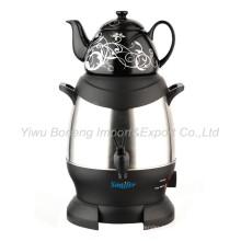 Sf-3315 (Black) Turkish Samovar, Electric Kettle, Iranian, Russian Samovar with Ceramic Teapot