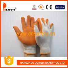 Algodón de punto con guantes de látex de color naranja Dkl312