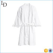 White casual hotel bath robe luxury warm cotton robe
