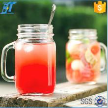 16oz 17 oz 32 oz Glass Mason Jars Drinking Mason Jar avec poignée et paille