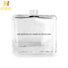 Bouteille de parfum en verre vide carrée de 50ml