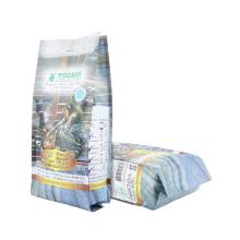 Wholesale Factory Price Printed Plastic Packaging Zipper Food Pouch Stand up Zip Lock Block Bottom Valve Coffee Packaging Bag