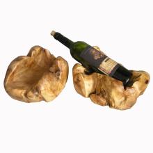 Top Quality Antique Carved Irregular Handmade Wooden Wine Rack