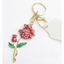 Китай оптом 3d цветок брелок металла брелок для любовника подарок 2015
