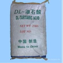 Ácido Dl-tartárico (ácido L-tartárico, ácido D-tartárico) para aditivos alimentares