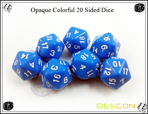Opaque Colorful 20 Sided Dice-4