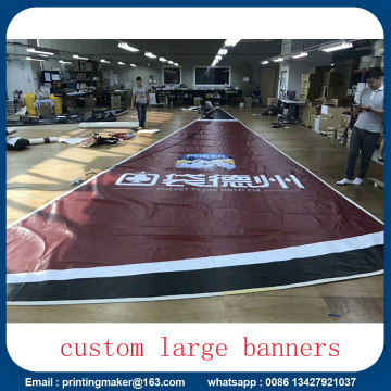 Saiz Besar Custom Fireproof Advertising PVC Banners