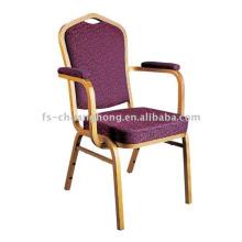 Design de cadeira de jantar de braço dourado (YC-D102)