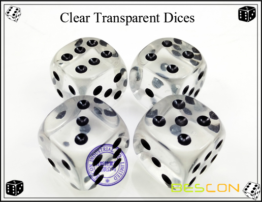 Clear Transparent Dices