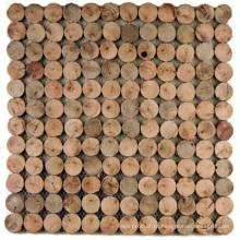 Painel de parede desigual do fundo da decoração interior do mosaico do eucalipto