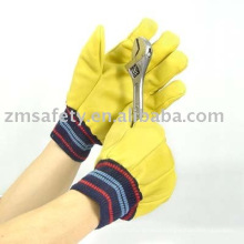 Yellow cowhide Driver gloves