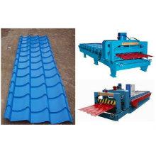 JCX 1100 azulejos esmaltados de color rodillo de acero formando máquina