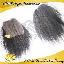 Günstige Spitze Schließung verworrenes gerade peruanisches reines Haar