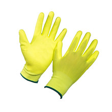 Coating PU Top Work Gloves in Yellow