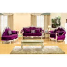 Sofá de madeira com chaise lounge para mobília da sala de estar (D929C)