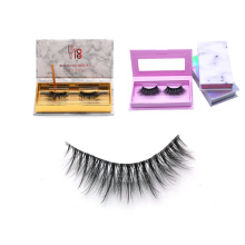 CH35T clear band wholesale price 3d silk lashes invisible band private label Silk False Eye Lashes