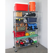 High Quality Commercial 6 Tier Metal Shelving Safe Racks with NSF Approval