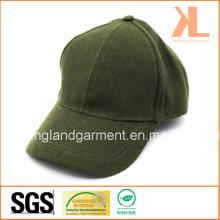 Polyester et laine Qualité Warm Plain Green Baseball Cap