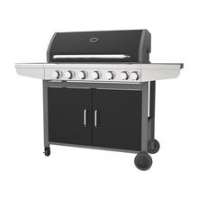 Six Burner Gas Grill With Side Burner
