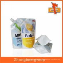 Liquid Filling Sealing Plastic Bag, bolsa de embalagem Spout em impressão profissional