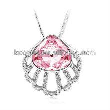 2015 neue Art aibaba Schmucksachegroßverkauf Kristall hängende Halskette