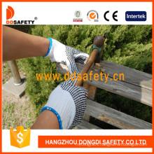 Black PVC Dots Both Sides Bleach Cotton Gloves Dkp228