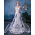 Vestido de novia personalizado de encaje abierto espalda sirena vestido de cola de pescado vestidos de novia Vestido De Novia