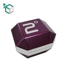 China Lieferanten-kundenspezifische Logo-purpurrote holographische Folien-Stempel-Pappform-Form-Uhr-Verpackenkästen