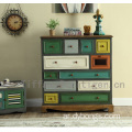 Vintage Shabby Chic Reclaimed living room Used Wooden Storage Cabinet