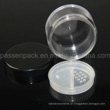 Clear rodada Pó Sifter Pó solto para embalagem de cosméticos (PPC-LPJ-011)
