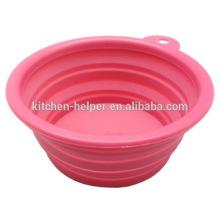 Shenzhen China coloridos baratos Flexible Silicona plegable Bowl para mascotas