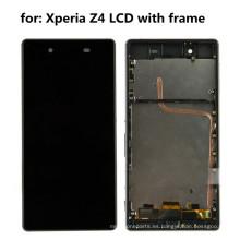 Teléfono celular LCD completo para Sony Xperia Z4 con pantalla táctil marco
