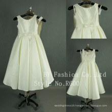 Wholesale sleeveless simple patterns for wedding flower girls