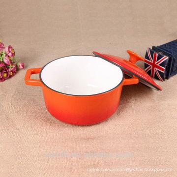 20cm Mini Round Casserole Dish-Gradient Orange
