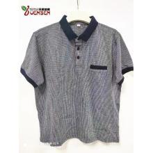 Poloshirt aus Jacquard-Stoff für Herren mit kontrastierenden Taschen